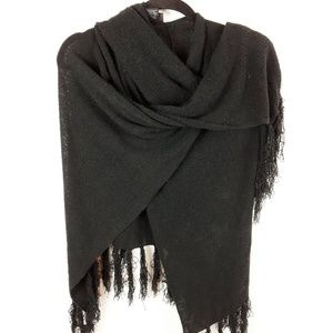 New York & Company Black Shawl Wrap Scarf